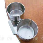 Curtisward Artists Metal Double Palette Dipper. Clip container for Oil mediums