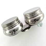 Curtisward Artists Metal Double Rounded Palette Dipper With Lids.Clip container for Oil mediums