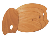 Mabef : OVAL Wooden Palette 25 x 35 cm