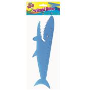 Kids Children Shark Shaped Plastic Ruler Measuring Tool 20cm Party Bag Gift