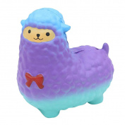 Fasloyu Cute Alpaca Kawaii Cream Scented Squishy Toy Slow Rising Stress Relief Toys