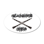 CafePress - Clarinets Rule Wall Decal - 20x12 Oval Wall Decal