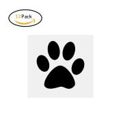 Etbotu Wall Sticker,with Cute Dog Footprint,Art Murals for Living Room Decoration (7.25 x 8.5CM),12PCS