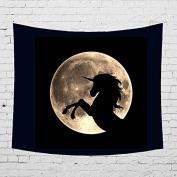 HYSENM Animal Series Tapestry Night Moon Wall Hanging Blanket Art Décor for Bedroom Dorm Living Room, Unicorn 150cm x 130cm