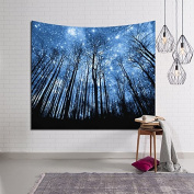 HYSENM Psychedelic Tapestry Fairy Forest Tree Wall Hanging Art Décor for Bedroom Living Room, Starry Sky 200cm x 150cm