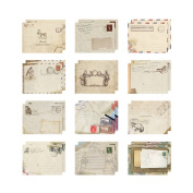 RainBabe Beige Mini Paper Envelope for DIY Scrapbooking 12pcs