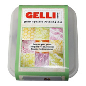 Gelli Arts Quilt Squares Printing Kit, Synthetic Material, Multi-Colour, 19 x 16.5 x 11.5 cm