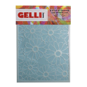 Gelli Arts Flower Stencil, Synthetic Material, White, 22.7 x 15.2 x 0.1 cm