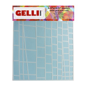 Gelli Arts Ladder Stencil, Synthetic Material, White, 33 x 22.9 x 0.1 cm