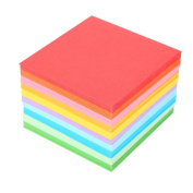 Origami Paper, 520 Pcs Folding Paper Colourful Double Sided Origami Crane Paper Craft Sheets 7x7 cm