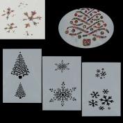 3Pcs Reusable Snowflake Christmas Stencil Airbrush Painting Art Craft DIY Home