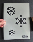 Snowflakes Stencil - A4 - Stencil for painting any surface - Christmas Decorating