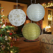 TtS 3 Mixed Round Paper Lanterns Lamp Shade Wedding Birthday Party Decoration--