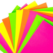 120x Sheets Of A4 Neon Card - Fluorescent Thick 200gsm Craft Card Stock