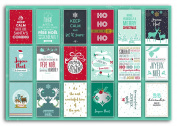 Toga PWP16 Merry Christmas Block 18 Postcards Paper Red/Green/White 15 x 10 x 0.1 cm