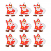 JuneJour 50Pcs Christmas Gift Tags Printing Label Hanging Tag for Wedding Birthday Favour Party 4cmx5cm Sack Santa