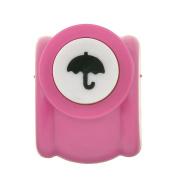 bismarckbeer 1Pc Mini Scrapbook Punch Handmade Hole Punch Toy Cutter Printing DIY Paper Tool size Umbrella