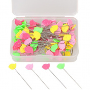 Colour Scissor 100 Pieces Flat Head Straight Pins For Sewing DIY Projects, Assorted Colours