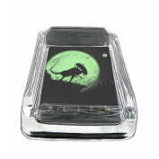 Alien Em1 Glass Ashtray Smoking/Coin Holder 10cm x 7.6cm Heavy Duty Decorative Easy Clean Great For Bars And Patios