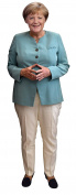 Aahs Engraving Chancellor Angela Merkel Life Size Carboard Stand Up, 1.5m