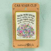 """Natural Life """"Travel Safely"""" Hedgehog Visor Clip"""