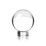 Clear Crystal Ball with Stand, 60mm Art Decor K9 Crystal Prop for Photography Decoration