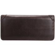 Men's Zipper Wallet, Berchirly Leather Coin Purse Long Purse