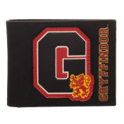 Official Harry Potter Gryffindor Sports Style Black Bi-Fold Wallet - Boxed