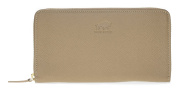 """Solo Pelle XXL purse / wallet / genuine leather and with double stitching """"Hague"""" in Saffiano Sand"""