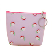 iTemer Mini Coin Purse PU Leather Floral Wallet Portable Storage Bag Multifunctional Small Handbag