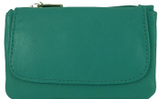 Small Soft Leather Card Holder and Coin Zip Purse with Front Flap in 6 colours
