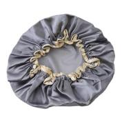 LJSLYJ Women Shower Lace Cap Waterproof Elastic Satin Bathing Salon Hair Hat