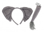 Childrens Elephant Animal Ears & Tail Set Fancy Dress Accessory