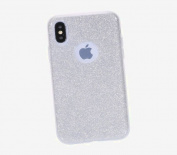 iphone X Case,IKASEFU Back Shockproof Luxury Sleek Glitter Sparkly Bling Cute Shiny Soft TPU silicone Thin Bumper Protective Cover for iphone X,Silver