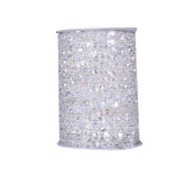 Uarter Plastic Beads Roll Creative Beads by the Roll Decorative Crystal Like Beads Rolls with Cotton Thread for Decorating Wedding, Home and Costume