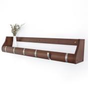 Qiangzi Coat Racks With Shelf Wall Brown Mounted Multifunctional Bamboo Coat Racks For Hallway Available 2 To 6 Hooks