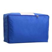Masterein Collapsible Comforter Quilt Storage Organiser Blanket Clothing Buggy Bag Case Pocket Box Holder Container Sky blue