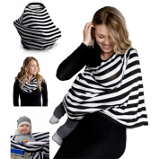DAYNECETY 1pc Nursing Cover Breastfeeding Infinity Nursing Scarf Breathable Viscose Car Seat Cover