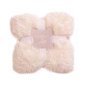 Bizzi Growin Koochicoo Pom Pom Edged Luxury Baby Blanket 100cm x 100cm - Blush Pink