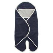 Popolini Gots Cotton Wrap Blanket Dark Blue