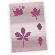 CraftStar Leaf Stencil Set - 5 Different Leaf templates on an A4 Sheet