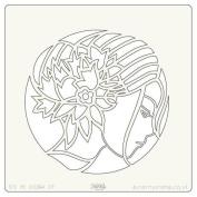 Clarity Stamps Groovi 18cm x 18cm Stencil - Fleur
