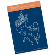 Clarity Stamps Groovi Parchment Embossing A6 Plate - Fairy 3
