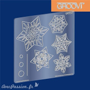 Clarity Stamps Groovi Parchment Embossing A5 Square - Snowflakes