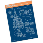 Clarity Stamps Groovi Parchment Embossing A5 Plate - Fairytale Castle