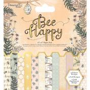 Dovecraft Premium Bee Happy Paper Craft Collection - 15cm x 15cm Paper Pad