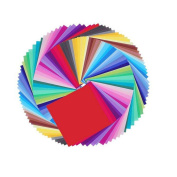 WeiMay 50 Sheets Vivid Colorrful Double-Sided Origami Paper for Arts and Crafts Projects Gift Set,15 x 15cm