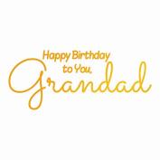 Ultimate Crafts Grandad's Birthday Hot Foil Stamp, Metal, Grey, 22.8 x 9.9 x 0.6 cm