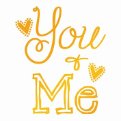 Ultimate Crafts You and Me Hot Foil Stamp, Metal, Grey, 22.8 x 9.9 x 0.6 cm