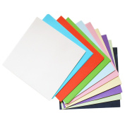 Outflower 100 Sheets 15cm Double-Sided Square Origami Paper 10 Colours for Arts Crafts Projects